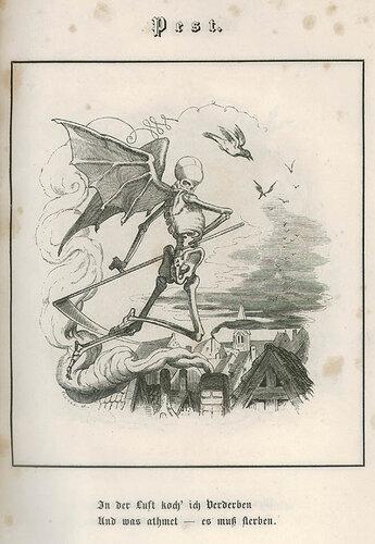 Пешт. C. Merkel. Bilder des Todes ober Todtentanz für alle Stände. n.c. : n.p., 1850, Plate 2.