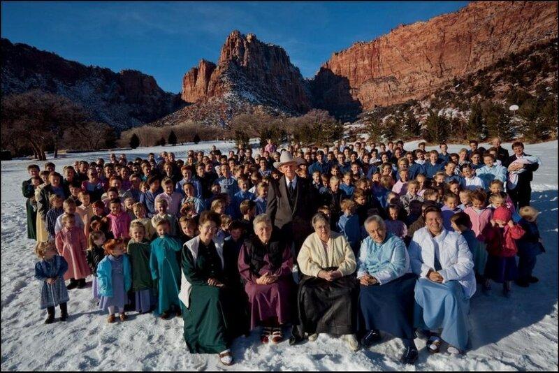 семья мормонов.