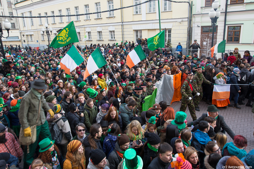 Moscow. Saint Patrick's Day celebration at Arbat