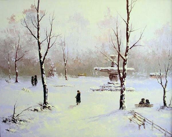 Григорий Аванесов. Зимний парк.jpg