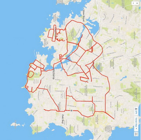 Рисунки на карте при помощи GPS-навигатора