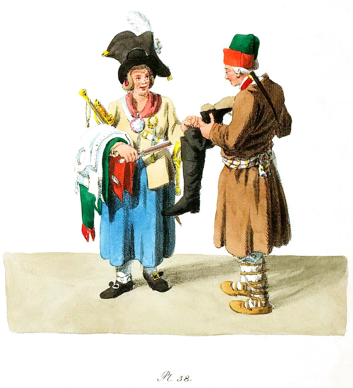 38. Trödelweibs und eines Soldaten / Торговец и солдат