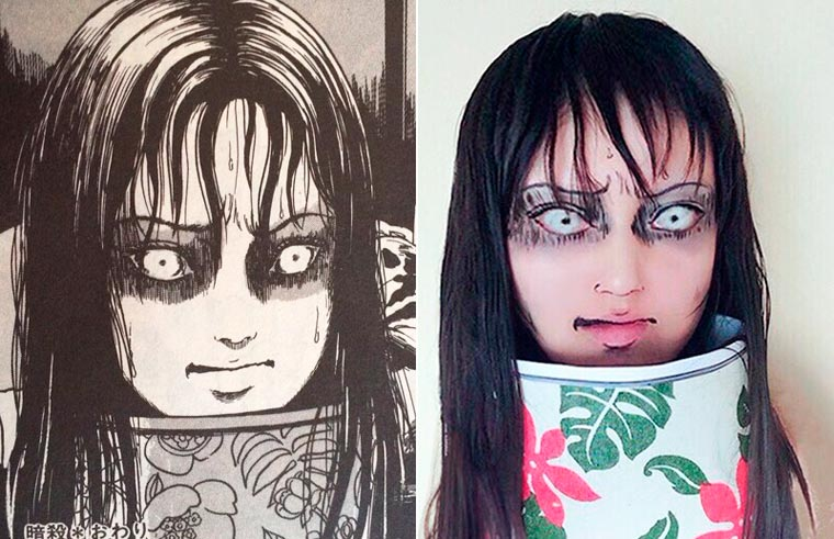 When a cosplayer recreates the horrible manga from Junji Ito