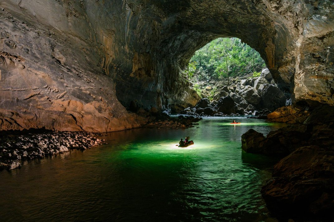 A Trip by Air and Kayak Through Tham Khoun Xe, One of the Largest Active River Caves on Earth