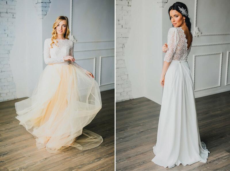 Девушки в нежных платьях