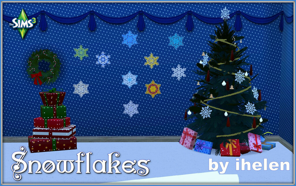 Snowflakes stickers(TS3) by ihelen