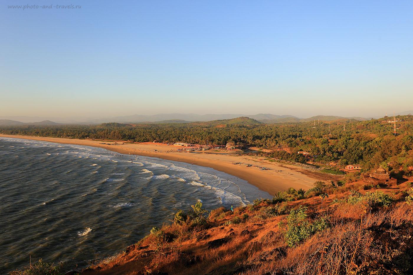 Фотография 2. Вид на Гокарну, штат Карнатака. Рассказы туристов об отдыхе на Южном Гоа в Индии. (17-40, 1/100, 0eV, f5.6, 24mm, ISO 100)