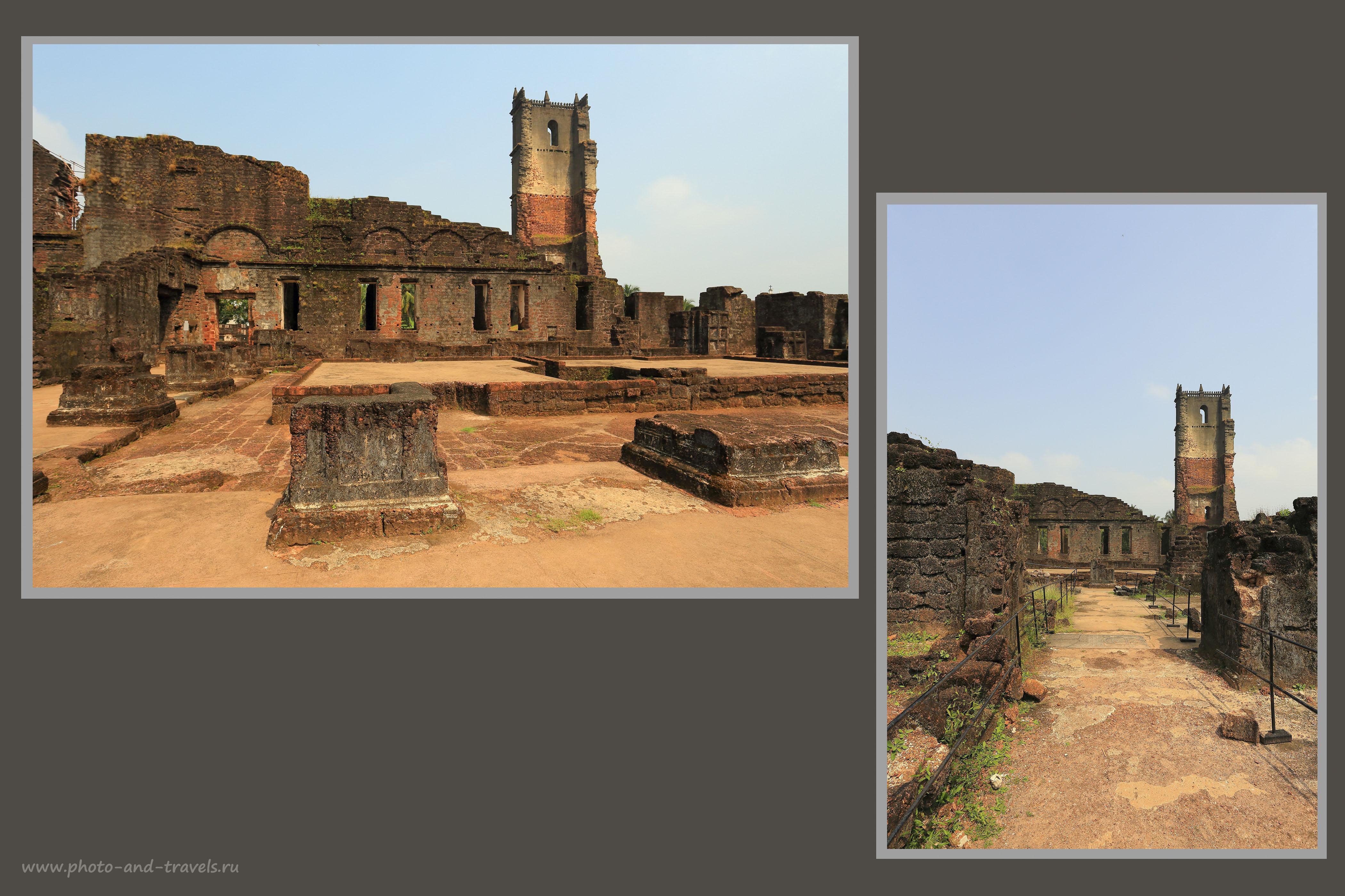 Фотография 22. Вид на руины башни Св. Августина. Экскурсия в Старый Гоа (17-40, 1/125, -1eV, f9, 17mm, ISO 100)