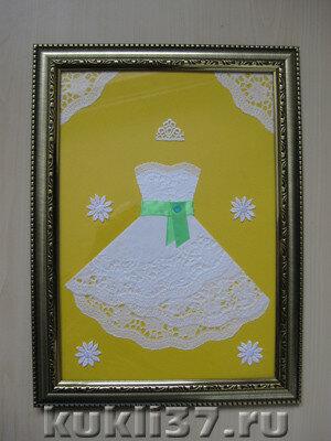 бумажное платье из салфетки