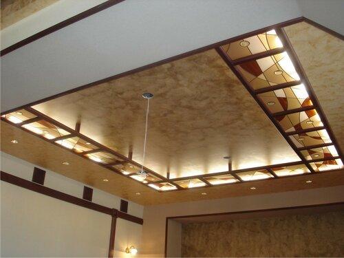 Витражные потолки - роскошный вид отделки
