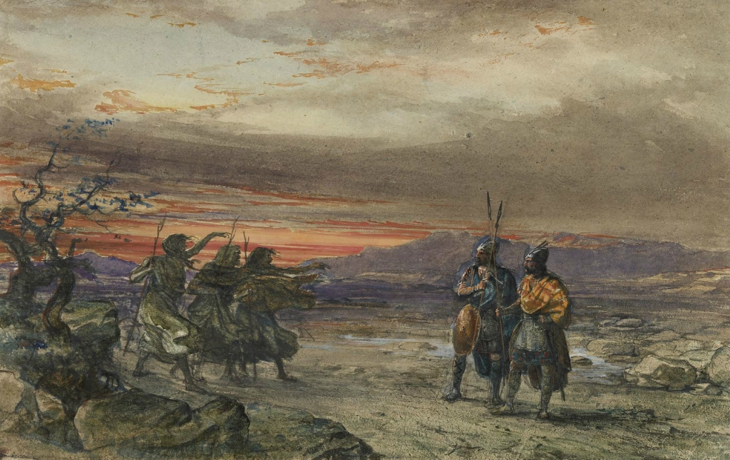 Сцена из Макбет  1853