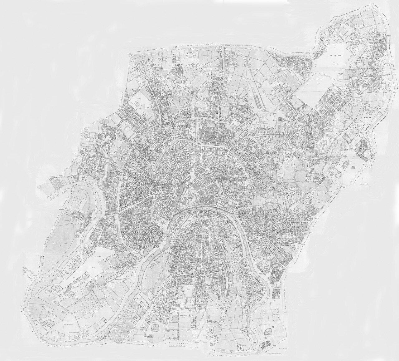 1852. Карта Москвы