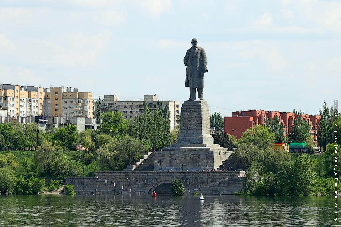 вход в Волго-Донской судоходный канал имени В.И.Ленина памятник Ленину