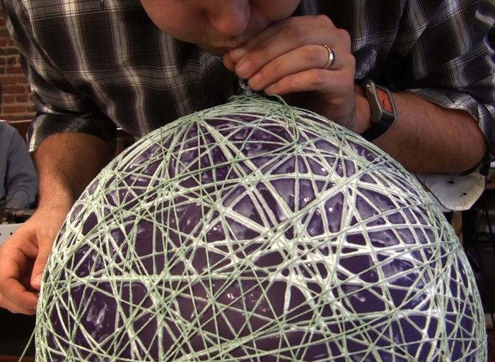 Как сделать из веревок шары