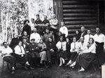 Театральный коллектив (на месте библиотеки). 1925 г.