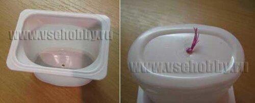 форма для свечи ручной работы - стаканчик от йогурта