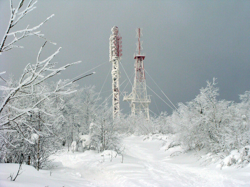 Радиовышки на горе Полюд