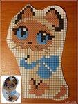Схема вышивки котёнок по имени гав