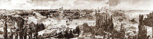 Фрагмент панорамы Киева. Рисунок Гроте. 1850 г. Фото с сайта www.arcunion.com.ua
