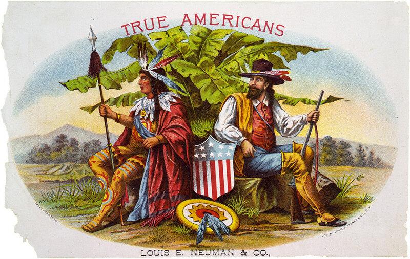 реклама американского табака,1885