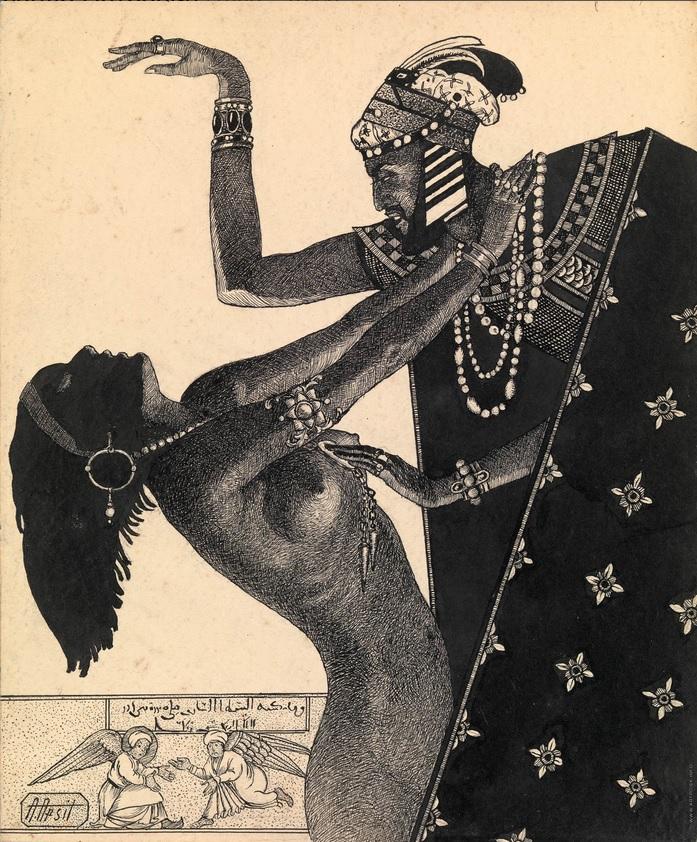 """Иллюстрация к """"Тысяча и одной ночи""""  Апсит Александр Петрович (1880—1944)(3)"""