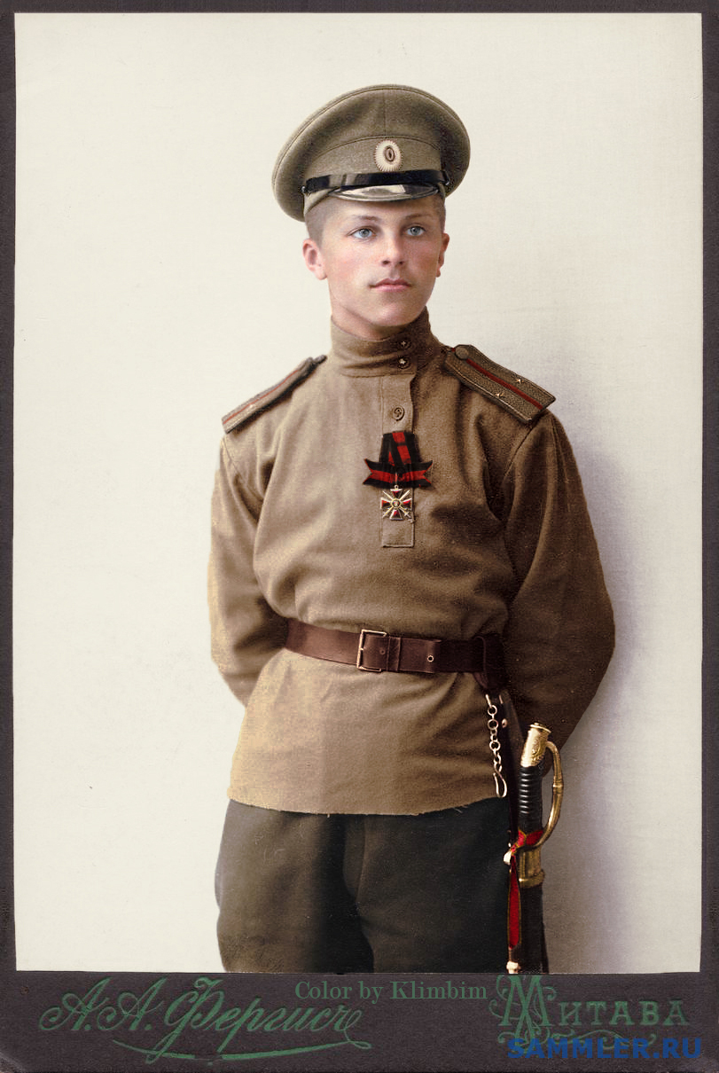 A young lieutenant with the Order of St. Vladimir, 1915