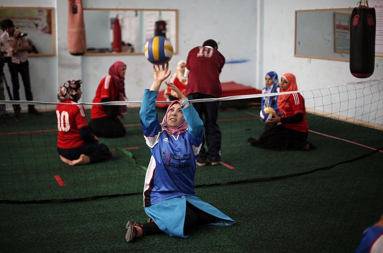Волейбол сидя — в Палестине