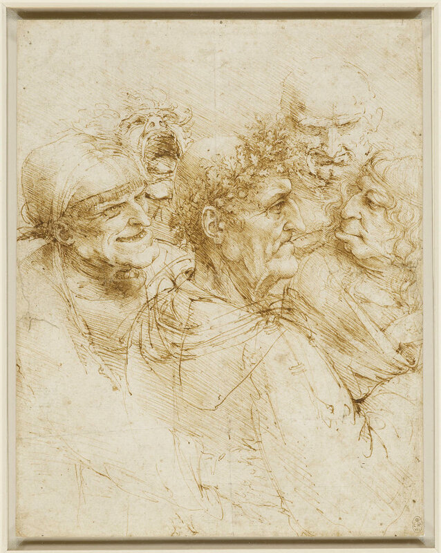 Leonardo Da Vinci Cinque teste grottesche (1493 ca)
