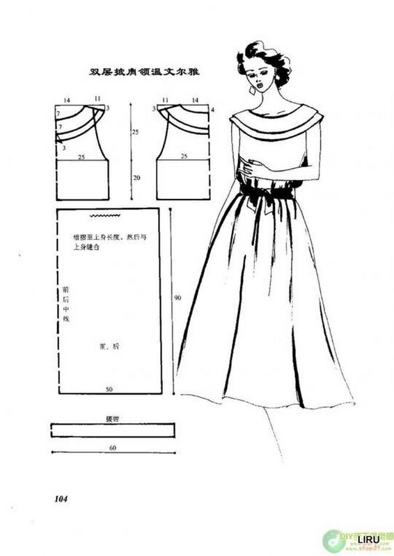 Самые лёгкие выкройки платьев
