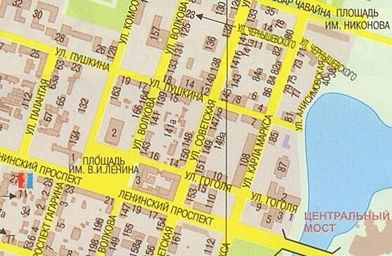 Карта Йошкар-Олы со спутника.