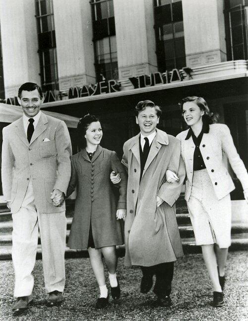 Mickey Rooney ,Judy Garland, Clark Gable, Shirley Templ