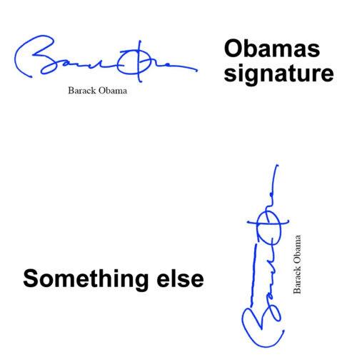 подпись президента Барака Обамы