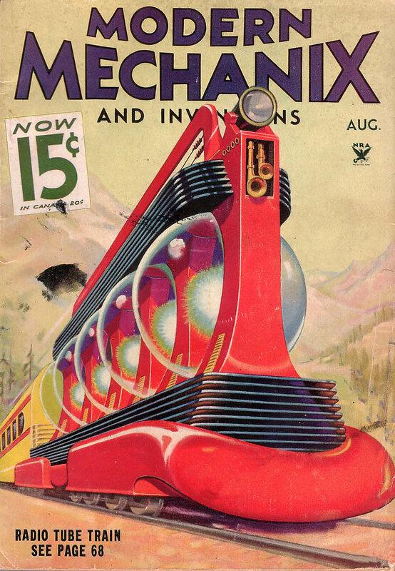 винтажные журналы о будущем