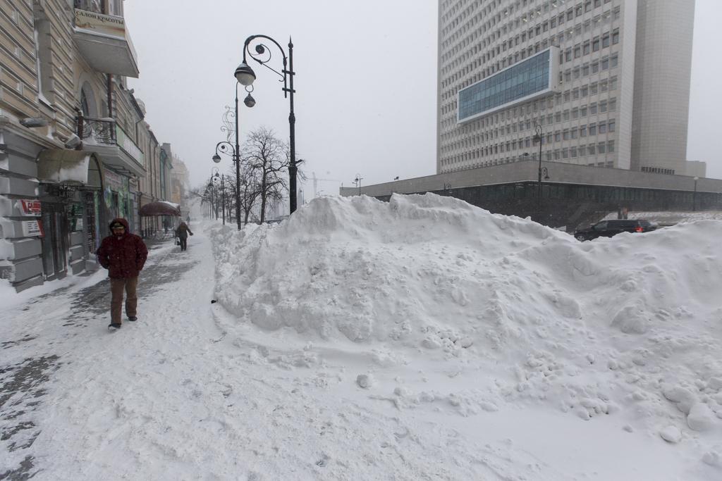 того, что снегопад во владивостоке фото уже