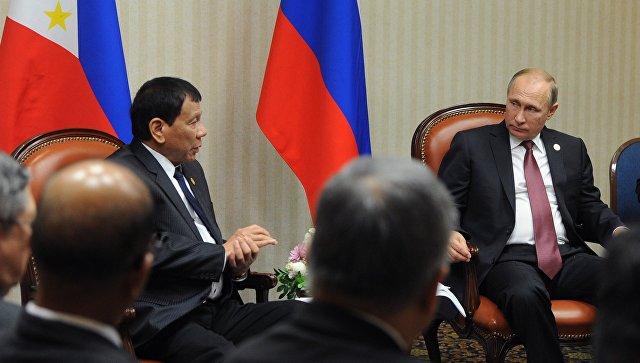 Дутерте прервал визит в Российскую Федерацию  из-за столкновений филиппинской армии сИГ