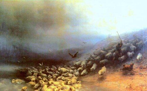 Айвазовский. Отара овец в бурю.jpg