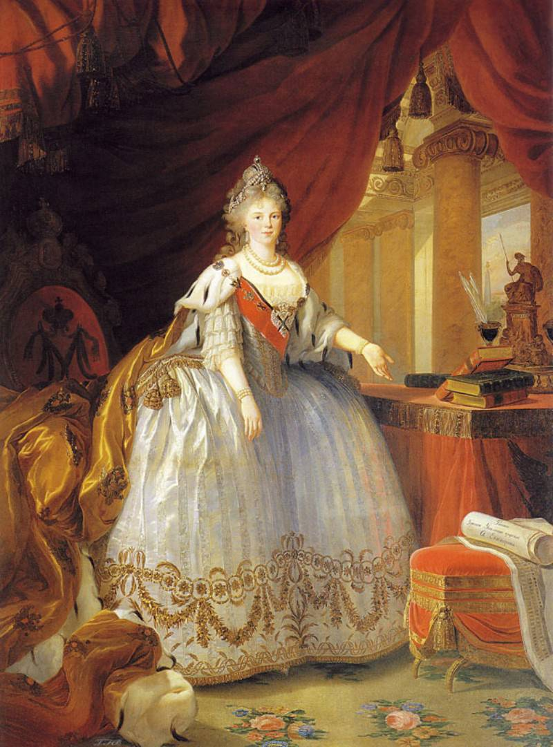 Большой парадный портрет Императрицы Марии Федоровны.
