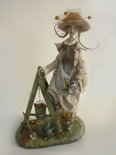 Dacha resident / Дачница – art doll by Anna Zueva