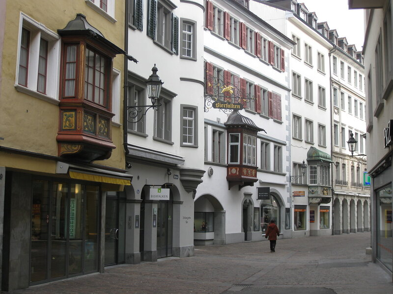 Эркеры улиц города Cанкт-Галлен