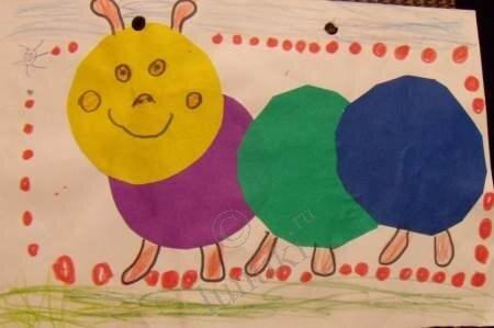 Аппликации из цветной бумаги для детей 4-5 лет своими руками