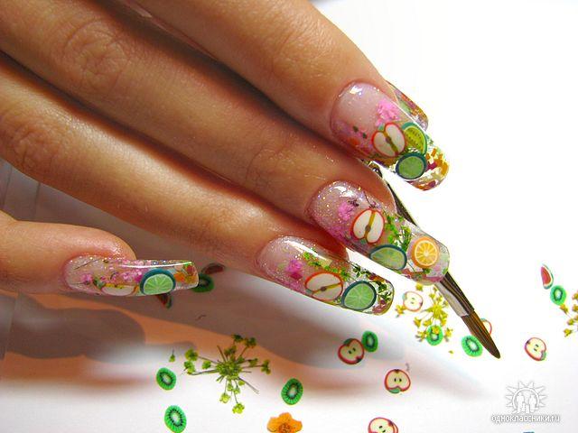 аквариумная роспись ногтей.