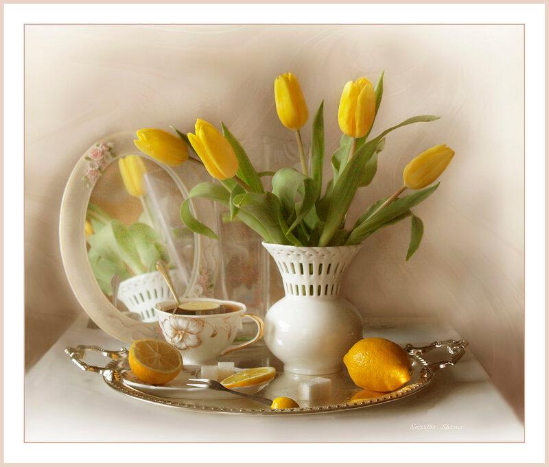 .Жёлтые тюльпаны