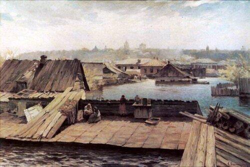 С.И.Светославский, «Разлив Днепра на Оболони» 1900-е гг.