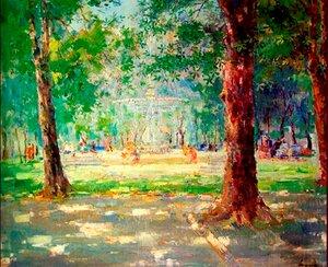 Парк влітку.1950
