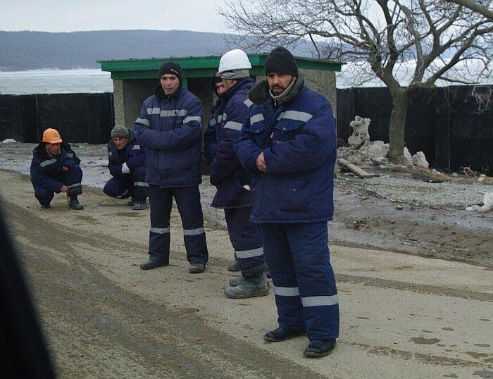 строители Саммит АТЭС 2012 остров Русский