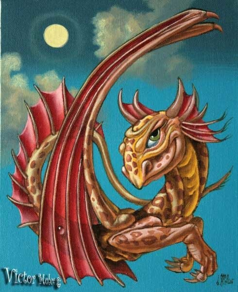 Леопардовый дракон 20х25 х.м.