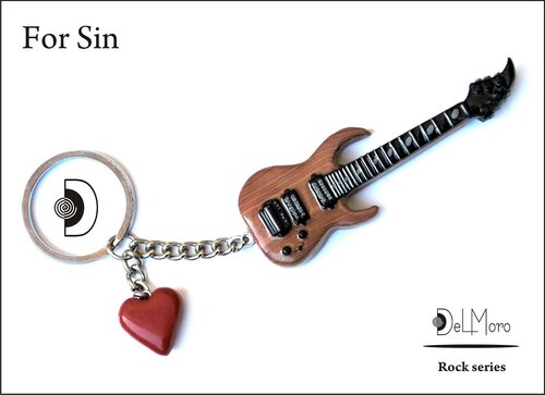 For Sin - electric guitar keyring