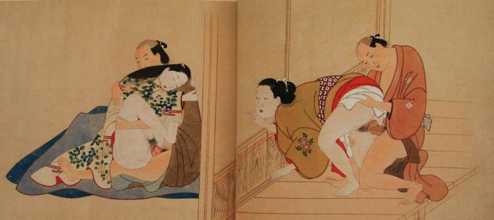 История эротических гравюр в Японии.
