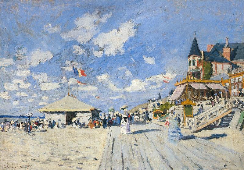 Sur les planches de Trouville – Monet 1870