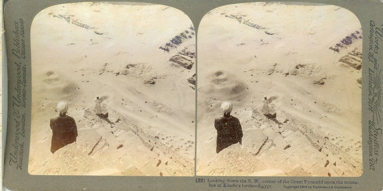 Гиза. Панорама с вершины пирамиды Хеопса. 1904